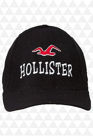 Boné Hollister Preto Aba Curva - Loja na Grife 83d66afb4d881