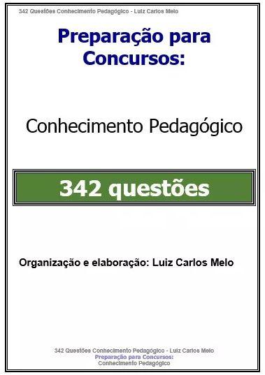342 Questões Conhecimentos Pedagógicos