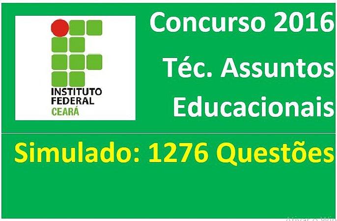 1276 Questões, simulado; Tec Assuntos Educacionais IFCE 2016