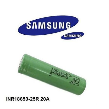 Bateria/ Pilha 25R 18650 - 2500mAh - Samsung
