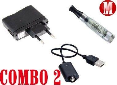 COMBO 2 - REPOSIÇÃO ( Adaptador + USB + Atomizador Ego Ce5 )