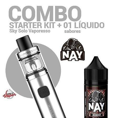 COMBO Kit Sky Solo - Vaporesso + 1 líquido Nay 0mg - 30ml