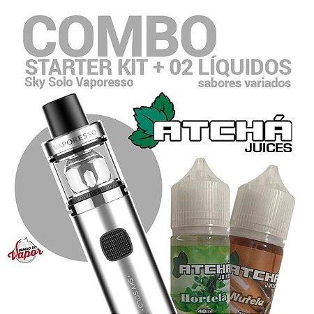 COMBO Kit Sky Solo - Vaporesso + 2 líquidos Atcha