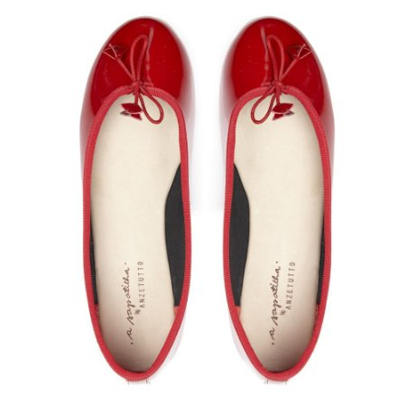 Sapatilha Asapatilha Bailarina Vermelha Verniz