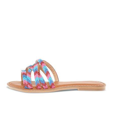 Rasteira Asapatilha Peonia Tiras Candy Pink
