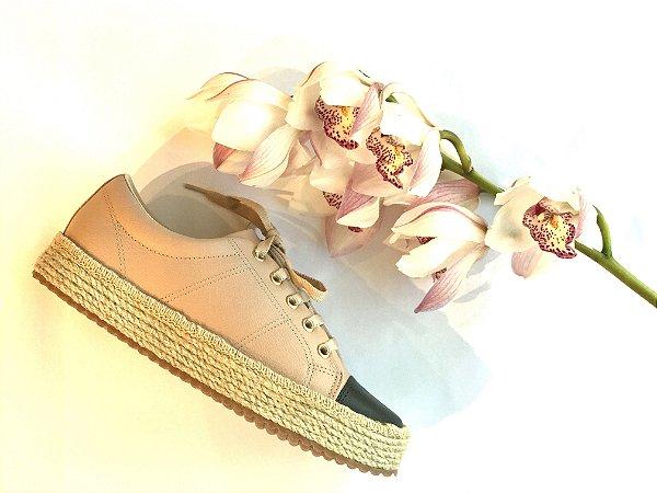 Sneaker Asapatilha Rope  Biqueira Rose