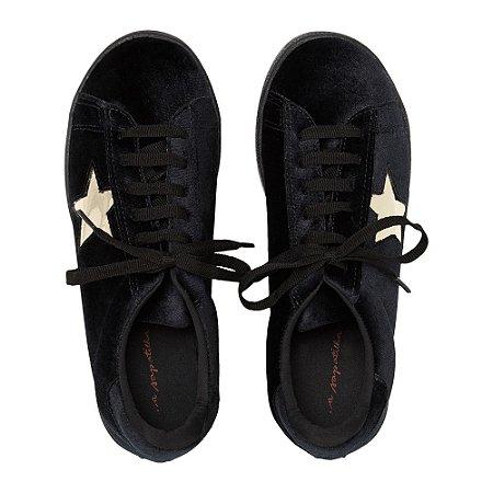 Sneaker Asapatilha Velvet Star Preto
