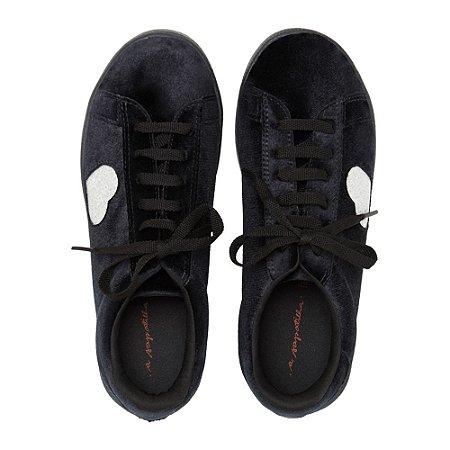 Sneaker Asapatilha Velvet Heart Preto