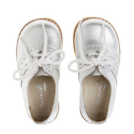 Sapato Ananás Brogue Julie Prata