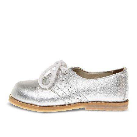 Sapato Asapatilha Brogue Julie Prata