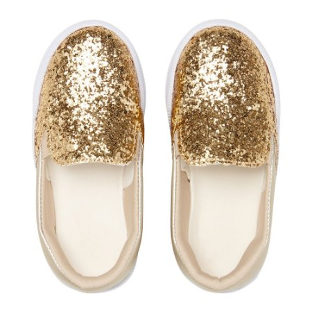 Slip On Ananás Mini Ouro