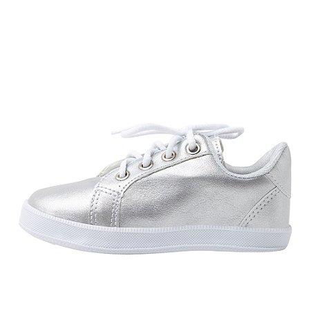 Sneaker Ananás  Couro Prata