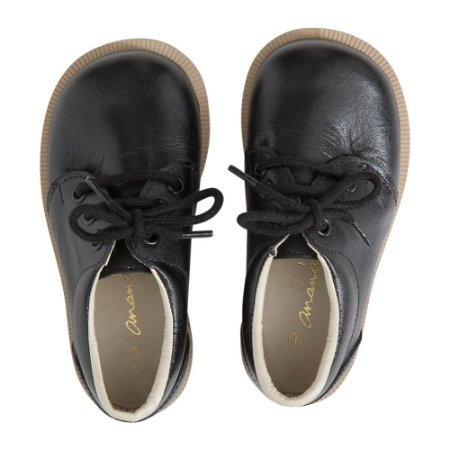 Sapato Ananás Brogue John Preto