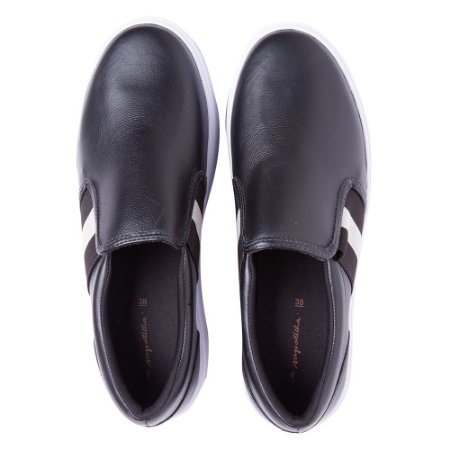 Sneaker Asapatilha High Preto Listra