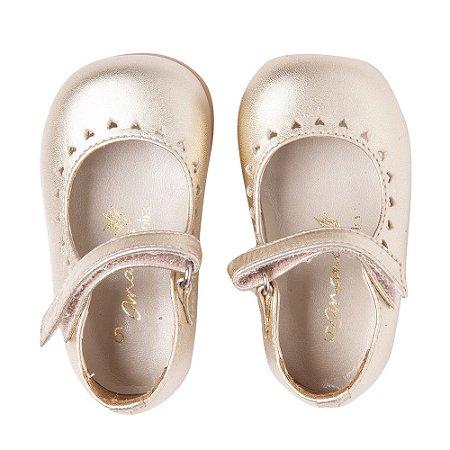 Sapato Ananás Ouro Metalico