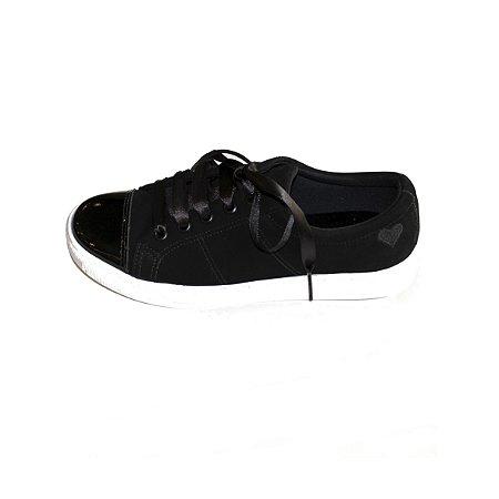 Sneaker Asapatilha Patent Black