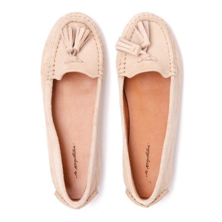 Mocassim Asapatilha Suede Off White