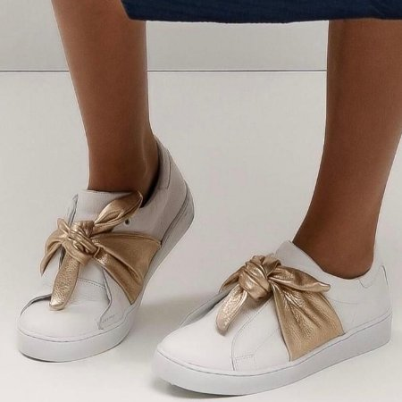 Sneaker Asapatilha Marina Ouro Branco