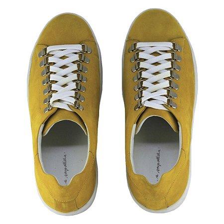 Sneaker Asapatilha Ilhós Mostarda