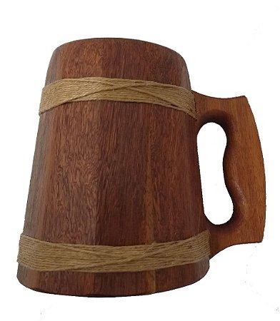 Caneca Medieval Madeira - Cedrilho - Vikings - Hidromel - Cerveja