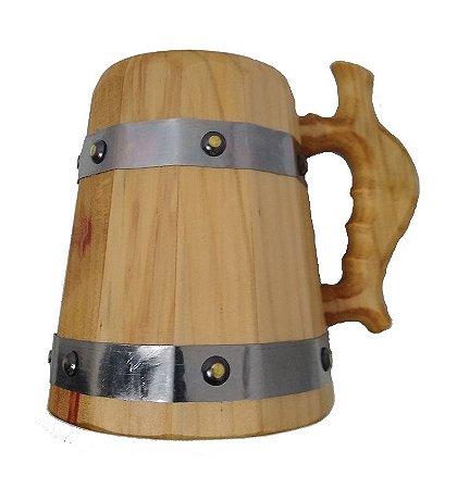 Caneca Medieval Madeira - Pinheiro - Vikings - Hidromel - Cerveja - 700ml