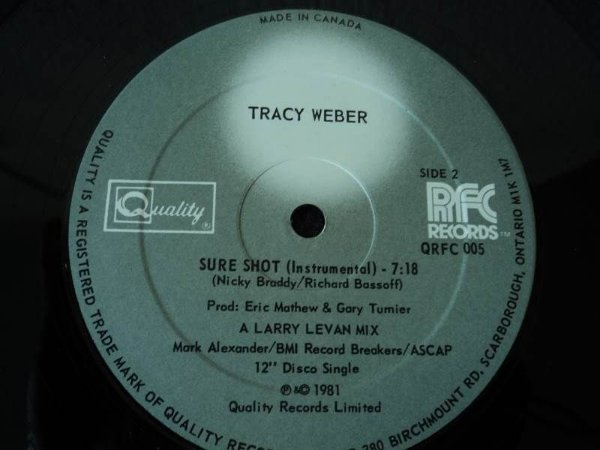 TRACY WEBER - SURE SHOT