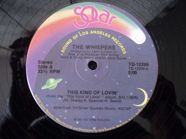 THE WHISPERS - THIS KIND OF LOVE