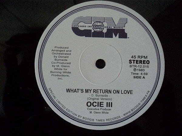 OCIE III - WHAT'S RETURN ON LOVE