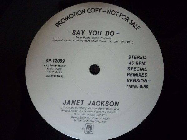 JANET JACKSON - SAY YOU DO