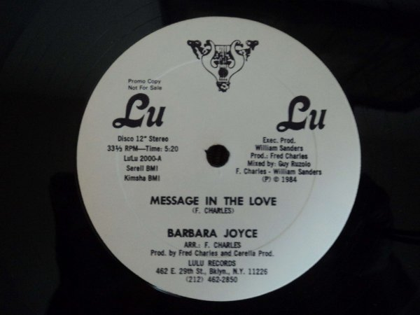 BARBARA JOYCE - MESSAGE IN THE LOVE PROMO