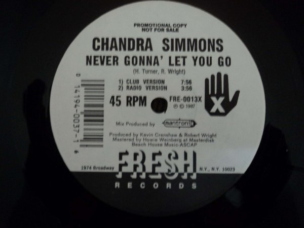 CHANDRA SIMMONS - NEVER GONNA LET YOU GO