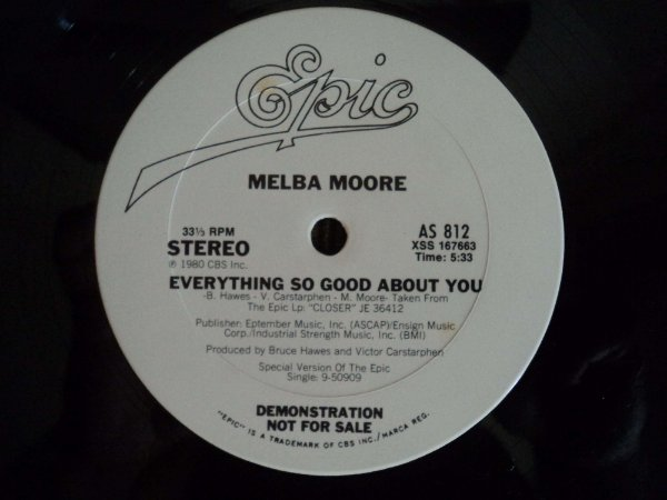 MELBA MOORE - EVERYTHING SO GOOD ABOUT YOU