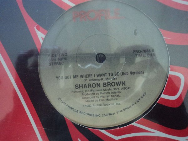 SHARON BROWN - YOU GOT ME WHERE I WANT TO BE LACRADO
