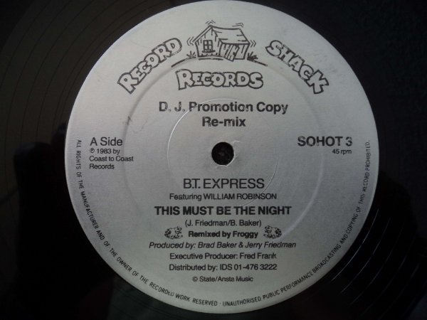 BT EXPRESS - THIS MUST BE THE NIGHT/INSTRUMENTAL