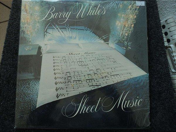BARRY WHITE - SHEET MUSIC(INCLUINDO LADY SWEAT LADY)