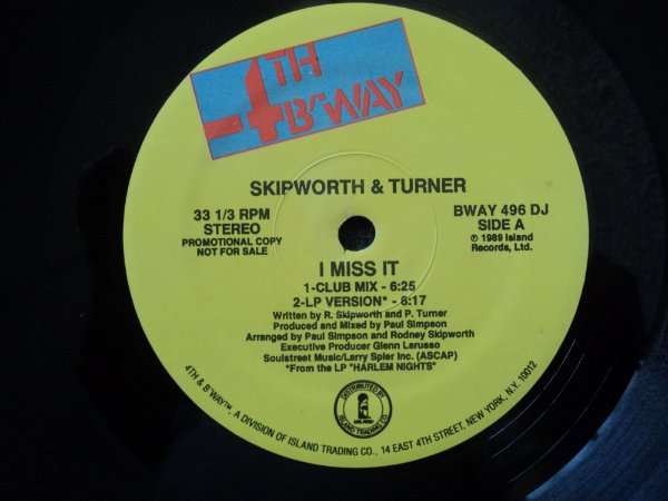 SKIPWORTH & TURNER - I MISS IT