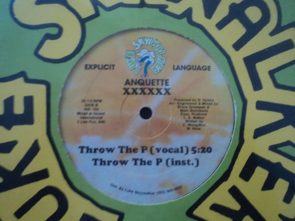 ANQUETTE - THROW THE P