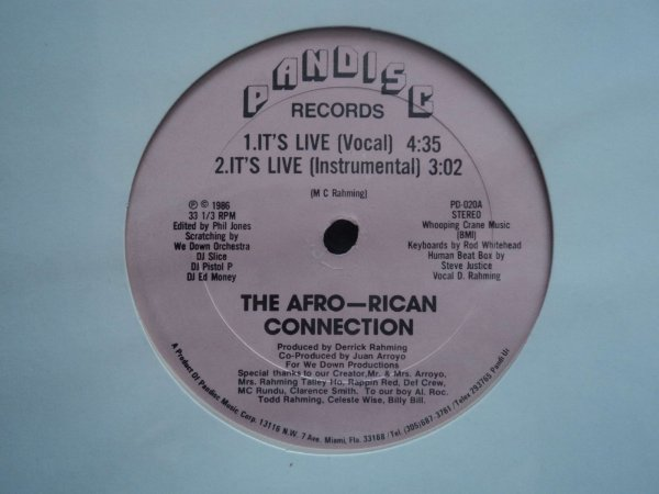 AFRO RICAN CONNECTION - IT'S LIVE/REGINA