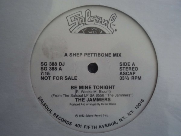 THE JAMMERS - BE MINE TONIGHT