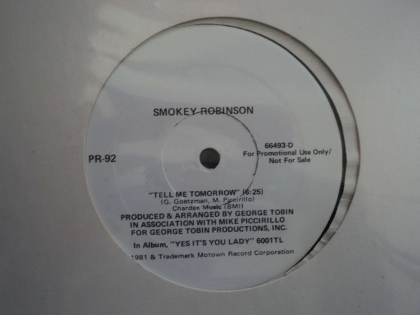SMOKEY ROBINSON - TELL ME TOMORROW