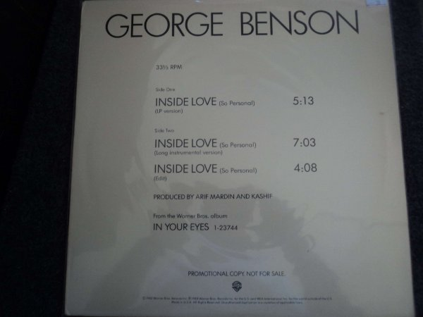 GEORGE BENSON - INSIDE LOVE