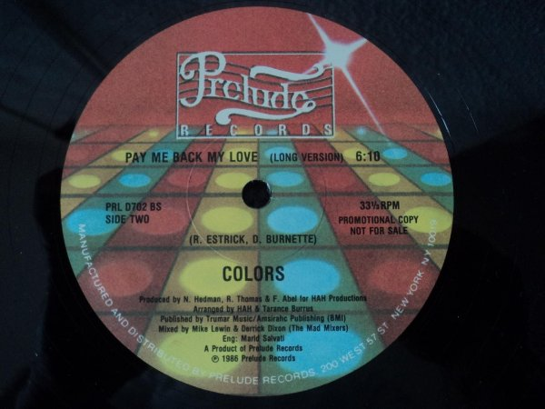 COLORS - PAY ME BACK MY LOVE