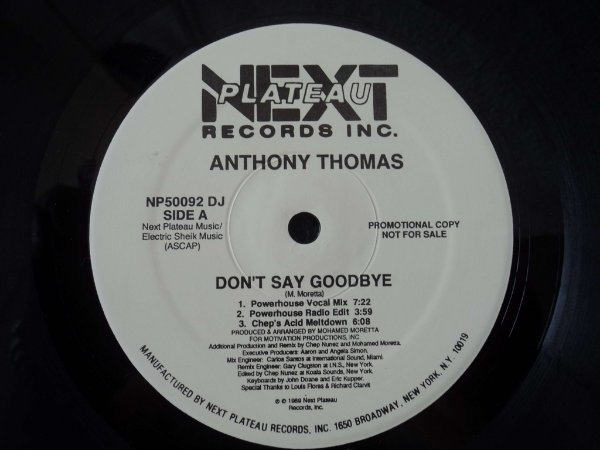 ANTHONY THOMAS - DON´T SAY GOODBYE