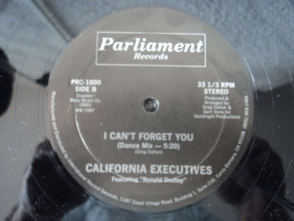 "CALIFORNIA EXECUTIVES - I CAN""T FORGET YOU"