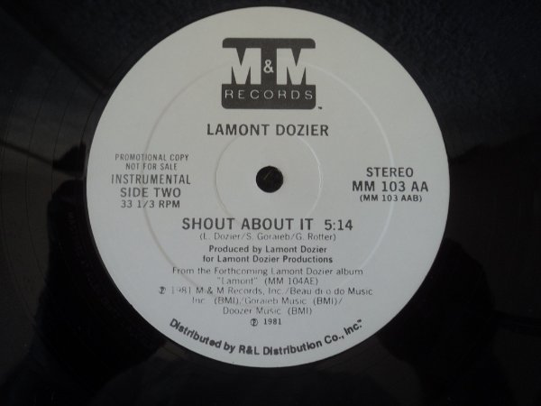 LAMONT DOZIER - SHOUT ABOUT IT