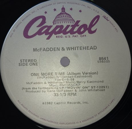 MCFADDEN & WHITEHEAD - ONE MORE TIME