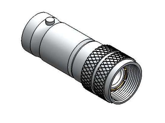 Adaptador para E1 - BNC Fêmea para Spinner IEC 169-13 Macho