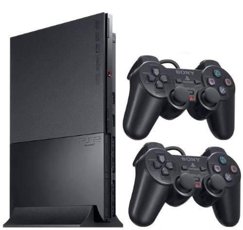 PlayStation 2 Slim Destravado Com 2 Controles Knup e 5 Jogos (usado)