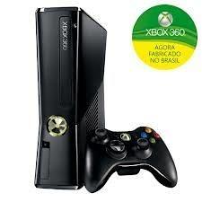 Console Xbox 360 Slim 4GB + Controle Sem Fio + 1 Mês Xbox Live Gold