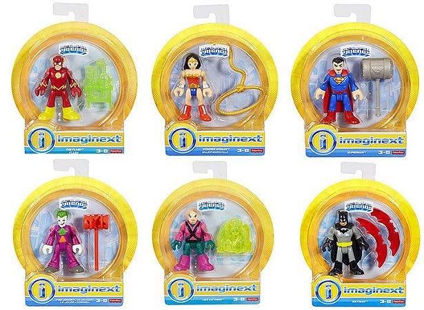 Boneco Coleção Imaginext Super Friends DC Comics Sortidos